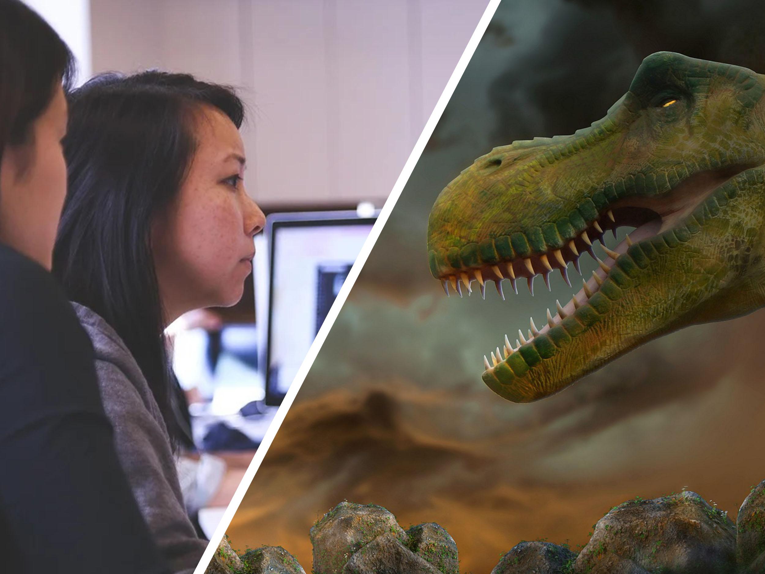 Studieren mit Online-Seminar und Dinogehirn